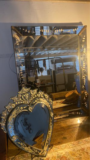 Antique Venetian mirror combo for Sale in Los Angeles, CA