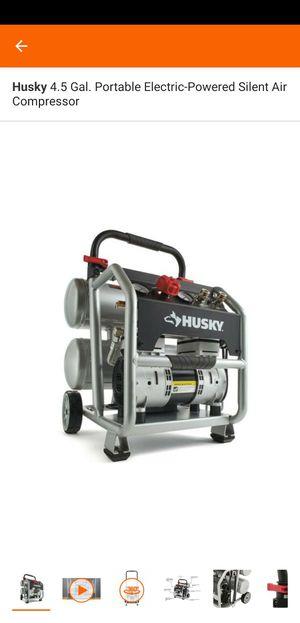 Husky 4,5 gal oil free air compressor for Sale in South El Monte, CA