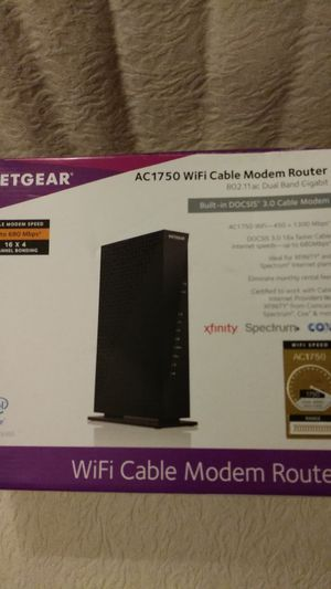 NETGEAR-AC1750 WIFI CABLE MODEM$120 for Sale in Dallas, TX