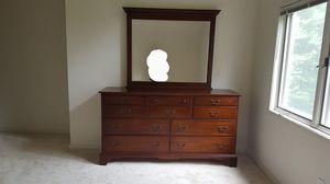 OBO - long dresser solid mohagany wood for Sale in Herndon, VA