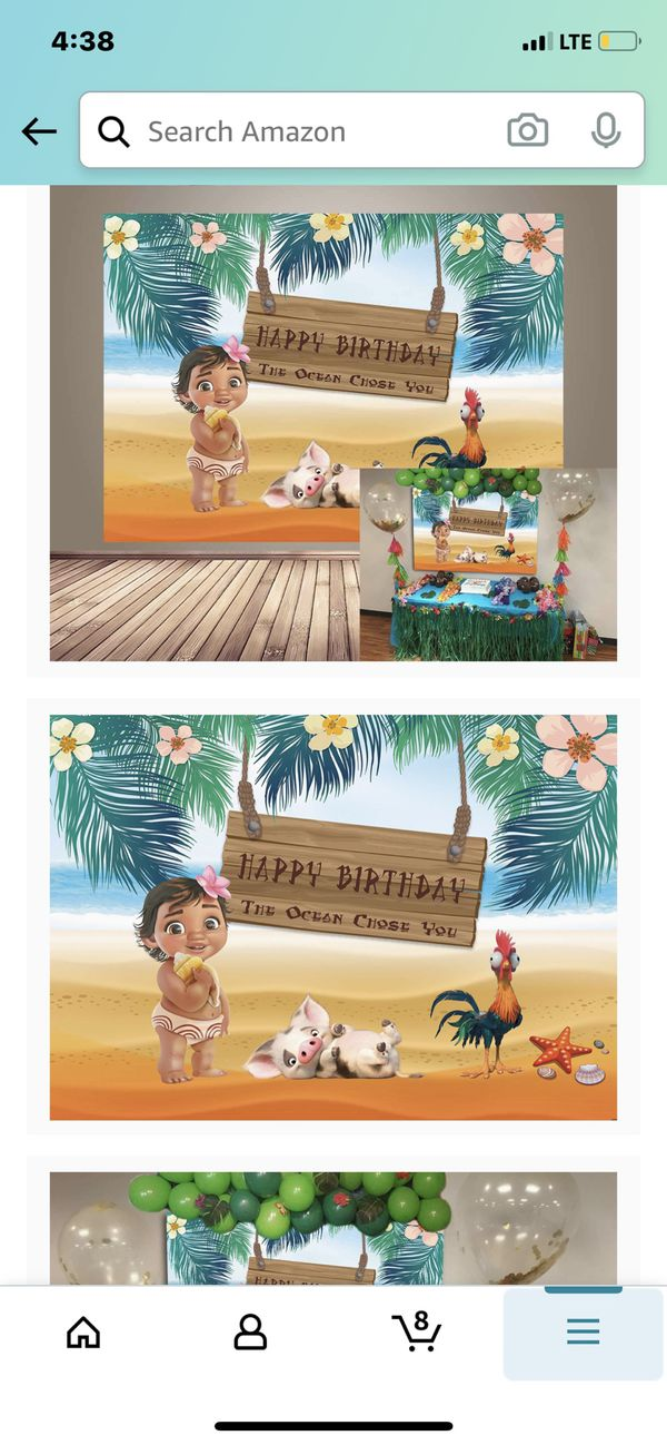 Baby moana backdrop