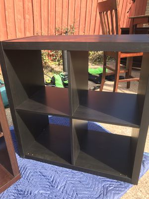 Black shelves. Great for all kinds of storage. for Sale in Plano, TX