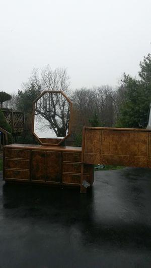 Beautiful solid oak bedroom set for Sale in Spencerville, MD