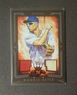 2015 Panini Diamond Kings Mookie Betts Boston Red Sox #106 Baseball Card Game Used Jersey Bat 84/99 Relic Collectible Sports MLB for Sale in Salem, OH