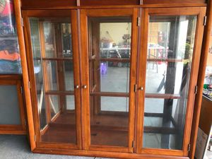 China cab with glass shelves and doors, for Sale in Warner Robins, GA