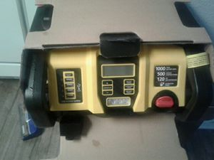 Stanley FatMax jumper system with USB and LED light and self shut off switch on air compressor for Sale in Moreno Valley, CA