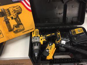 Dewalt 20 Volt MAX XR Cordless Premium Brushless Hammer Drill 5 Ah Battery Hard Case for Sale in Mesa, AZ