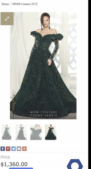 Green couture prom/gown dress for Sale in Dublin, CA