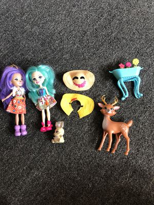 Enchantimals bunny and deer dolls for Sale in Hialeah Gardens, FL