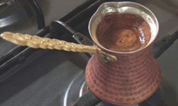 Handmade Hammered Copper Turkish Coffee Pot - Turkish Coffee Warmer Pot with Handle - Made in Turkey