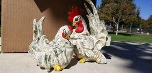 Rooster and hen Figurine set Vintage for Sale in Riverside, CA