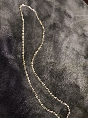 22' real .925 sliver rope chain for Sale in Hayward, CA