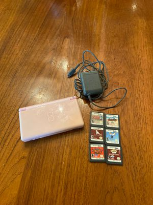 Nintendo DS lite with 6 games for Sale in Rumson, NJ
