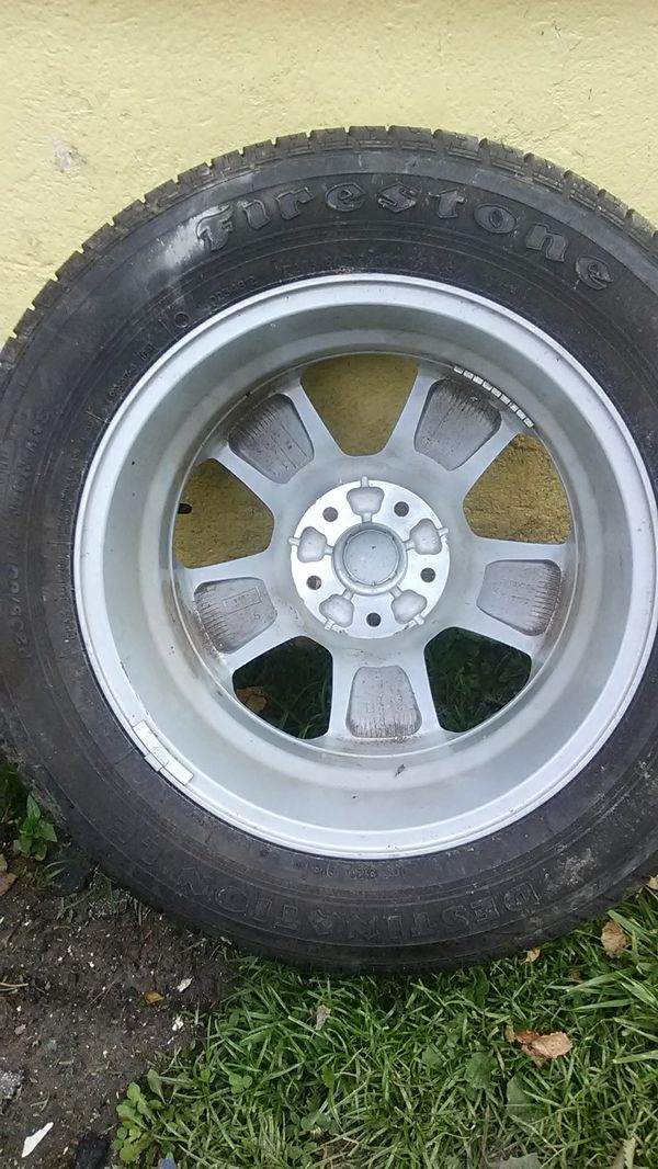 2 tires and rim!N&ot sold yet! Off 2017 Monte Carlo!
