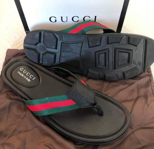 New gucci men sandal size 8 9 for Sale in Hollywood, FL