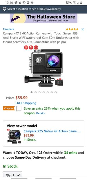 Campark 4k Action camera brand new..never used..waterproof...hablo español.. for Sale in Riverside, CA