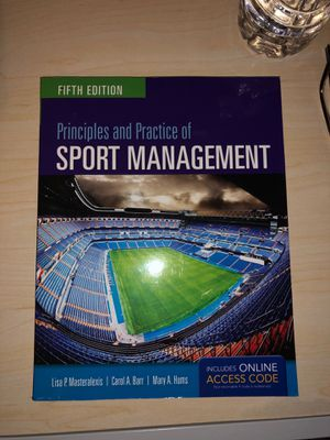 Principles and Practice of Sport Management: Fifth Edition for Sale in Frisco, TX
