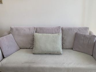 Grey-Green Sage Suede Couch for Sale in San Diego,  CA