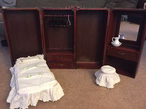 American girl doll Murphy bed wardrobe carrying case for Sale in Chesapeake, VA
