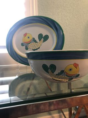Florida Marketplace Bowl and Plate for Sale in Oxford, FL