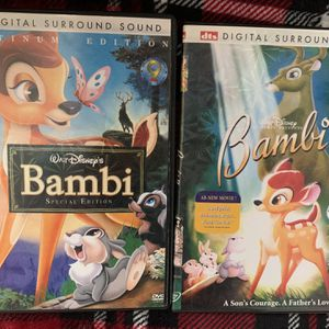 Bambi 1 and 2 Widescreen DVDs for Sale in Albuquerque, NM