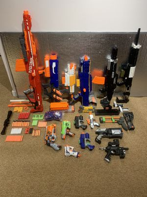 Lot of nerf guns (some modded), clips, parts and ammo for Sale in Chapel Hill, NC
