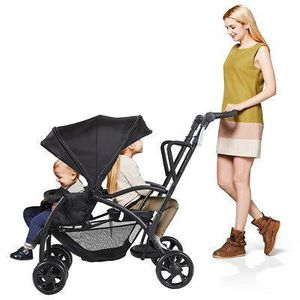 Folding Baby Sit and Stand Ultra Tandem Stroller Pushchair Double Kids Black for Sale in Palmdale, CA