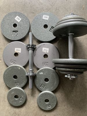Ajustable Dumbbells 55 lbs for Sale in Kent, WA