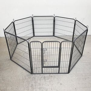 """$85 NEW Heavy Duty 32"""" Tall x 32"""" Wide x 8-Panel Pet Playpen Dog Crate Kennel Exercise Cage Fence for Sale in Pico Rivera, CA"""