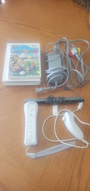 Wii, Mario Party 8, Gamecube compatibility, WiiMote and Numchuk for Sale in Denver, CO