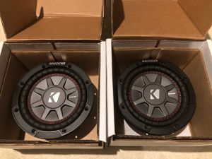 Kicker 6 3/4 inch Subwoofers BRAND NEW never used for Sale in Macomb, MI