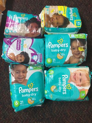 Pampers size 6 all for 15 dollar for Sale in Mesquite, TX