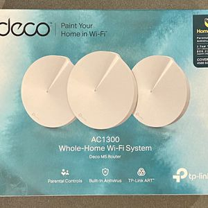 TP-LINK Deco M5 AC1300 Whole-Home Wireless Wi-Fi System - Mesh WiFi Router (3-Pack) for Sale in Brooklyn, NY