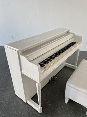 Vintage Upright Piano Painted White - Works Just Needs Tuning for Sale in Los Angeles, CA