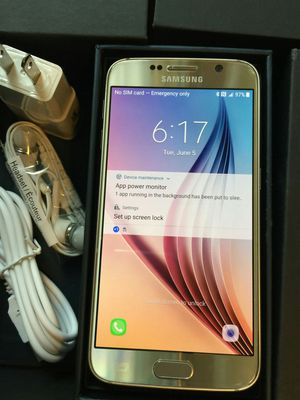 Samsung Galaxy S6 - excellent condition, factory unlocked, includes new box & accessories for Sale in Springfield, VA