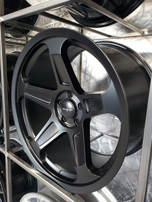 Satin black srt demon rep wheels fits challenger charger magnum 300 20x9 20x10.5 5x115 rims for Sale in Tempe, AZ