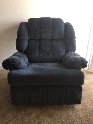 Navy Blue, Corduroy, Reclining Chair for Sale in Orlando, FL