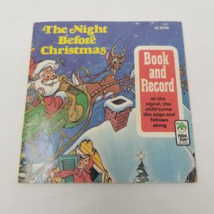Peter Pan Record The Night Before Christmas Book & Record 45rpm 1977 for Sale in San Antonio, TX