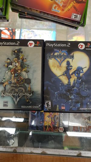 Kingdom hearts 1 and 2 ps2 for Sale in TEMPLE TERR, FL