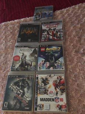 PS3 console plus Game Lot 11 games included for Sale in East Providence, RI