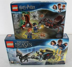 LEGO HARRY POTTER 75950 ARAGOG'S LAIR + FANTASTIC BEASTS 75951 GRINDELWALDS ESCAPE for Sale in Sugar Land, TX