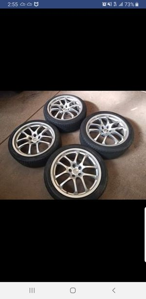 2005 G35 Rays Rims with Tires for Sale in Whittier, CA