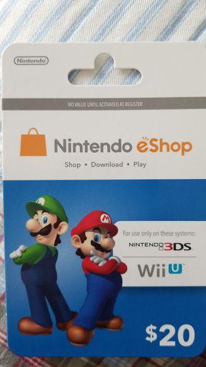 Nintendo E Shop Card for Sale in Hialeah, FL