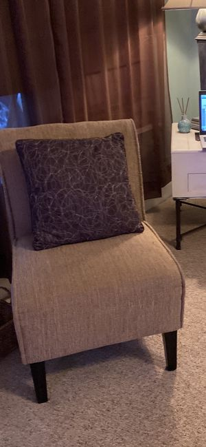 Beige Accent Chair $45 for Sale in GRANT VLKRIA, FL