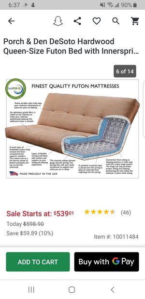 Porch and Den DeSoto Futon innerspring mattress for Sale in Mesa, AZ