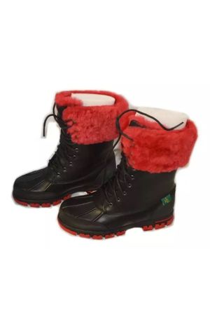 Ralph Lauren Quinta Polo Boots-Black/Red for Sale in Tampa, FL