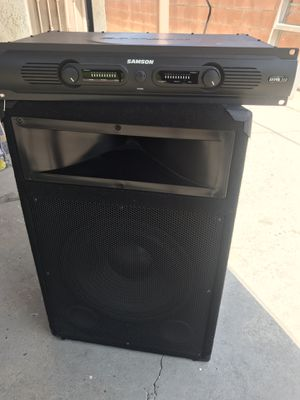 DJ Speaker Set w/ Bass and Amp for Sale in Norwalk, CA