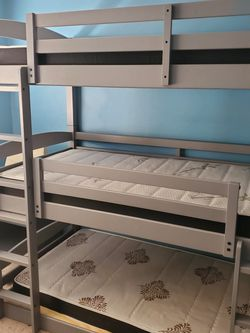 Triple Bunk Bed With Mattresses for Sale in Phoenix,  AZ