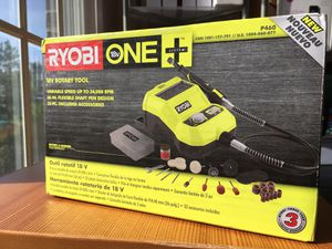 NEW Ryobi P460 18V ONE+ Rotary Tool Polishing, Cutting, Grinding, Etching for Sale in Chapel Hill, NC