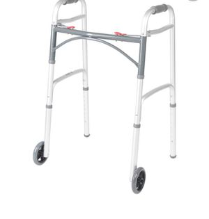 """Drive Medical - Deluxe Two Button Folding Walker with 5"""" Wheels for Sale in Miami, FL"""